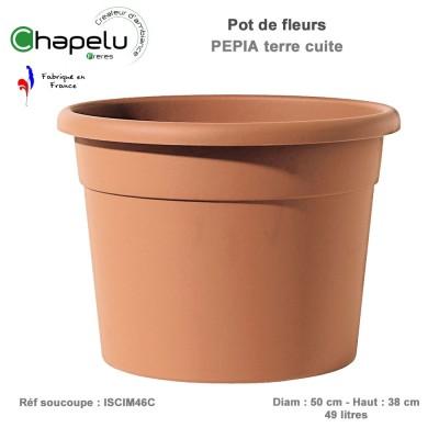 Pot de fleur rond Pépia Diam 50 cm