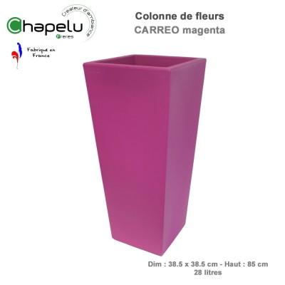 Pot de fleurs colonne Carréo 38.5 x 38.5 x H85 cm