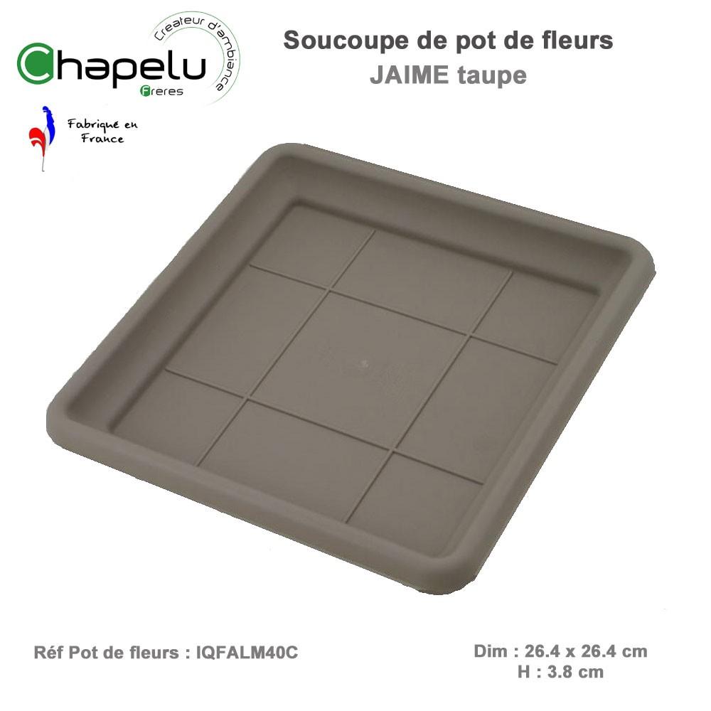 Sououpe pour pot de fleur colonne carr jaime 40 x 40 x 63 - Pot de fleur carre ...