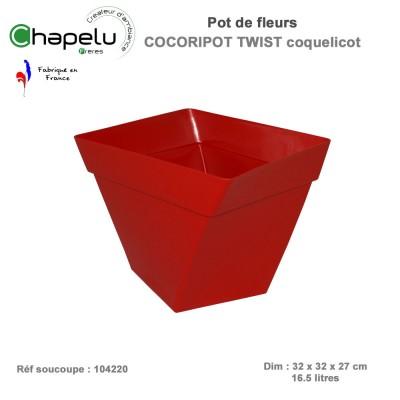 Pot de fleur design Cocoripot Twist 32 x 32
