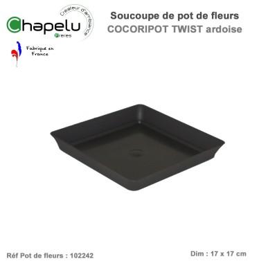 Soucoupe pour pot de fleur design Cocoripot Twist 24 x 24