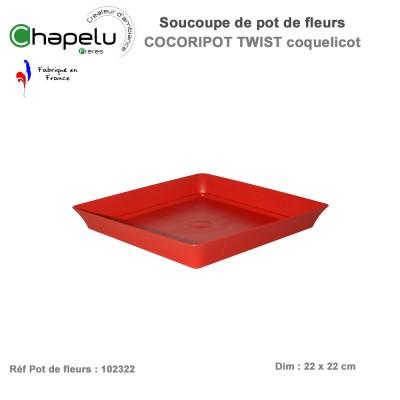 Soucoupe pour pot de fleur design Cocoripot Twist 32 x 32