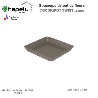 Soucoupe pot de fleur Cocoripot Twist 38 x 38 et Colonne