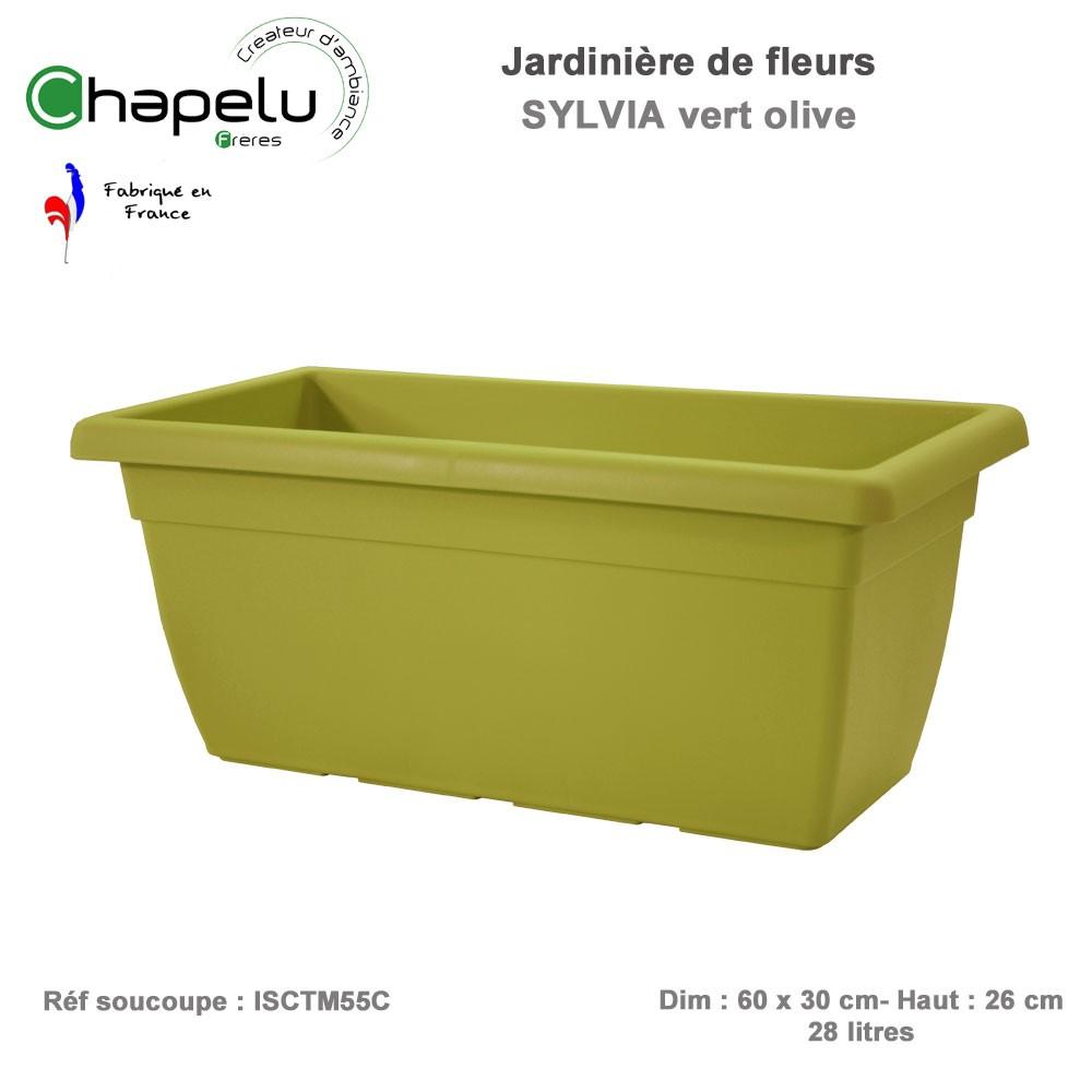 Jardini re r sine sylvia 60 x 30 cm ictm60c83 chapelu - Jardiniere resine rectangulaire ...