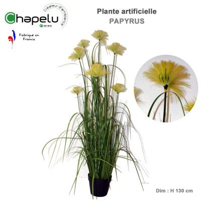 Papyrus artificiel en pot H. 130 cm