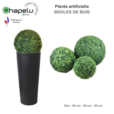 Boule de buis artificielle diam. 30 cm