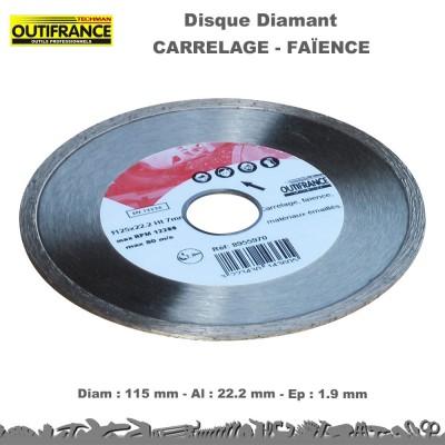 Disque diamant carrelage - faïence