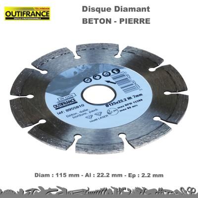 Lot disques diamant béton - pierre