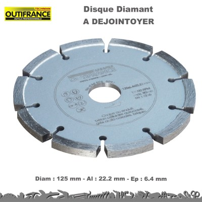Disque diamant à dejointoyer - 125 mm