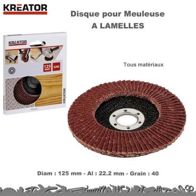 Disques à lamelles pour meuleuse 125 mm (Lot 15)