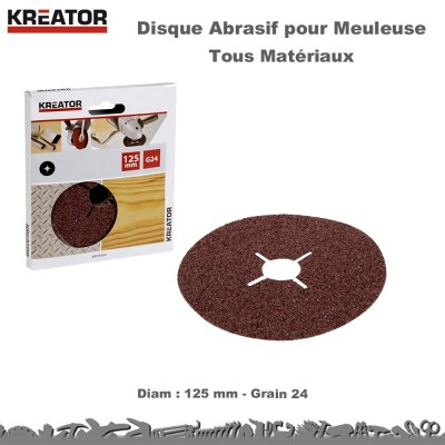 Disques abrasifs 125 mm (Lot 60)