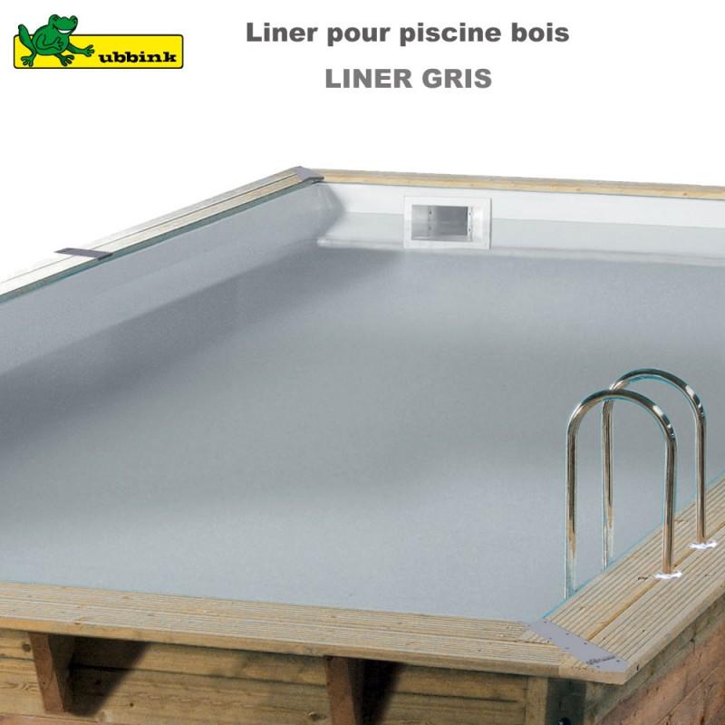Liner gris de remplacement pour piscine 7514910 ubbink p for Piscine bois sans liner