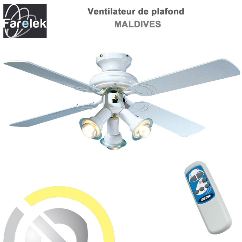 Ventilateur de plafond maldives 107 cm 112615 farelek 8 - Variateur pour ventilateur de plafond ...