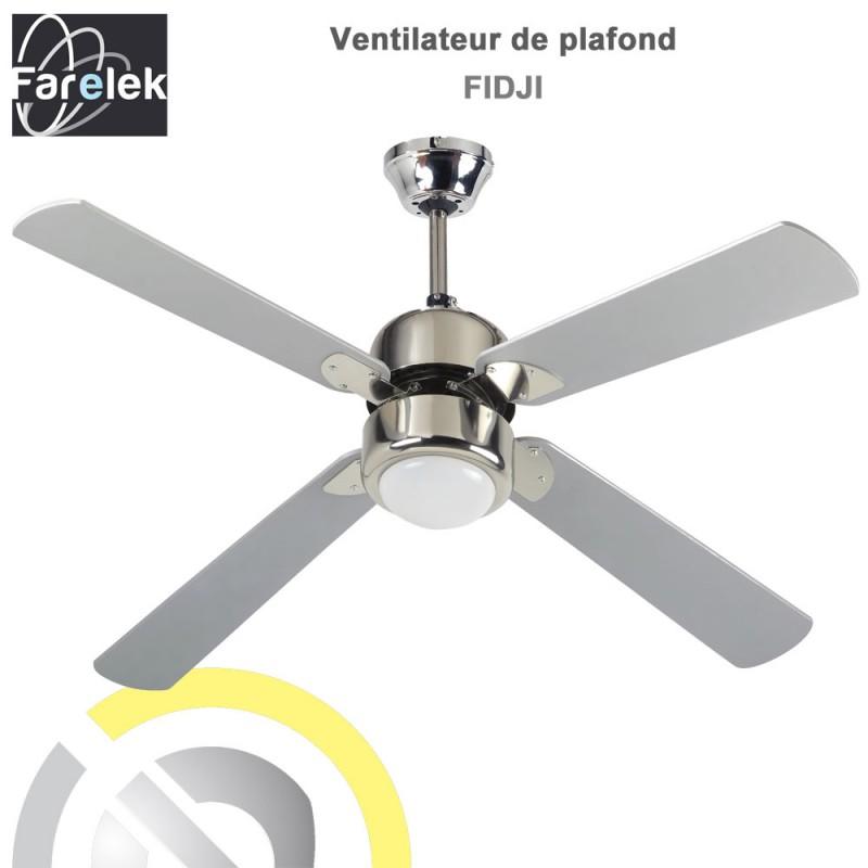 Ventilateur de plafond fiji 122 cm 112426 farelek 8 - Ventilateur de plafond a telecommande ...