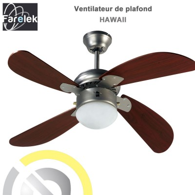 Ventilateur de plafond Hawaii 107 cm
