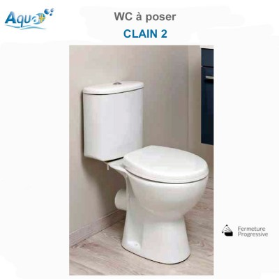 WC à poser Clain 2 avec bride