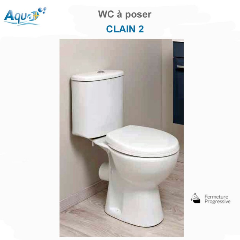 wc poser clain 2 sachwcclain2sh aqua. Black Bedroom Furniture Sets. Home Design Ideas