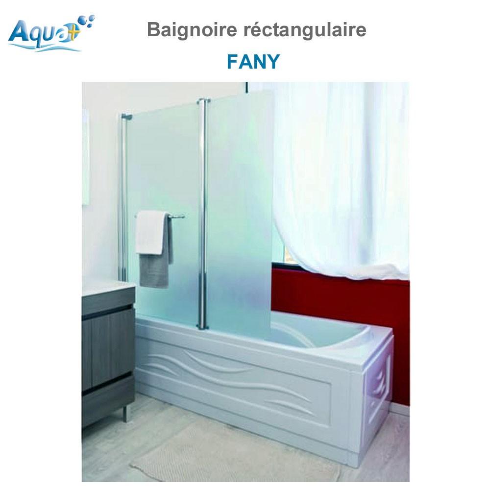 Baignoire monobloc fany r ctangulaire sachbaq1407 aqua for Baignoire rectangulaire