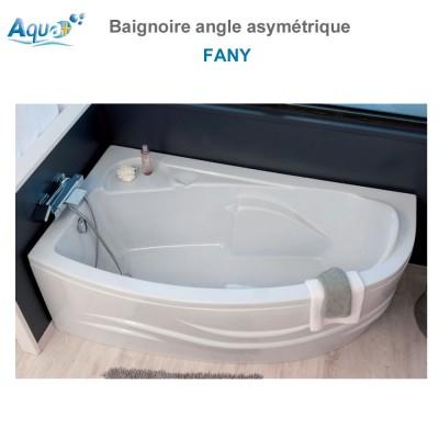 Baignoire Monobloc Fany angle asymétrique