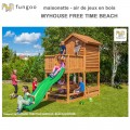 Portique en bois Myhouse free time beach