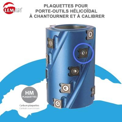 Porte outils hélicoïdal pour toupie à chantourner et à calibrer