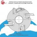 Porte outils pour couteaux dos cranté système Euro 60°