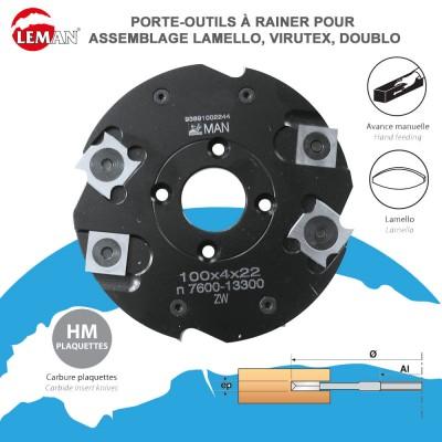 Porte outils à rainer pour assemblage Lamello-Virutex-Doublo