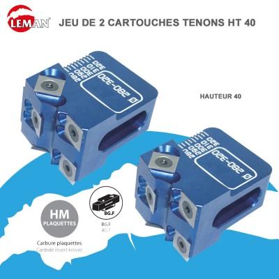 Cartouches porte outils multi-tenons Ht 40 - Jeu de 2