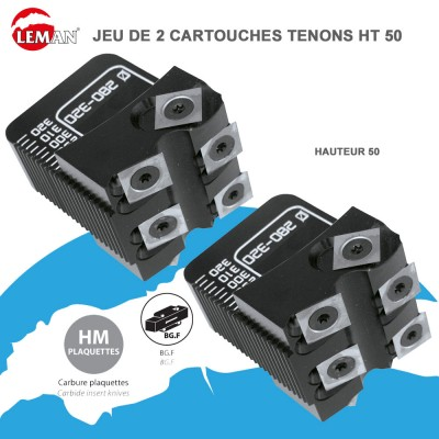 Cartouches porte outils multi-tenons Ht 50 - Jeu de 2
