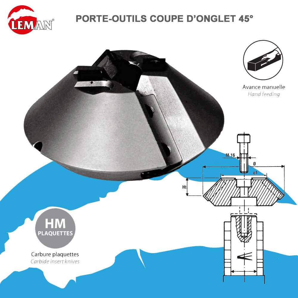 Porte outils pour toupie coupe d 39 onglet 45 - Assemblage coupe d onglet ...