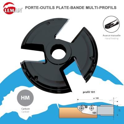 Porte outils plate-bande multi-profils