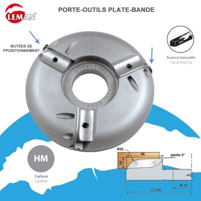 Porte outils plate-bande forme tonneau