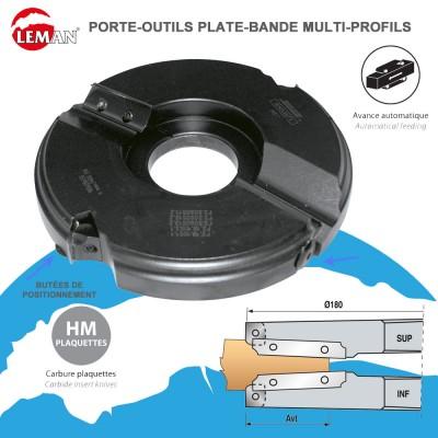 Porte outils plate-bande multi-profils diam. 180 et 200