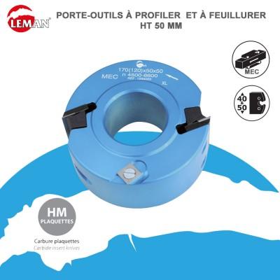 Porte outils profiler et à feuillurer Ht 50 mm