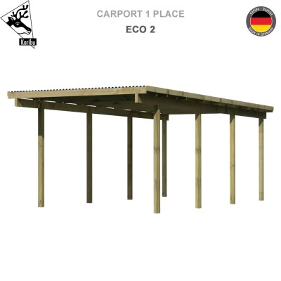 Carport 1 voiture Eco 2