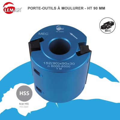 Porte outils à moulurer Ht 90 mm