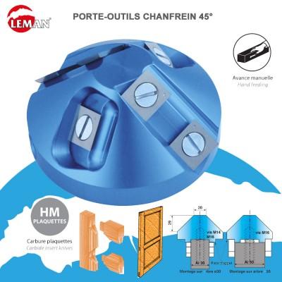 Porte outils pour chanfrein 45° D.75