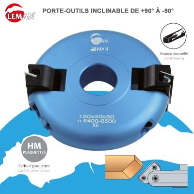 Porte outils inclinable réglable de +90° à -90°