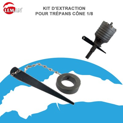 Kit d'extraction pour trépan SDS max - cône 1/8