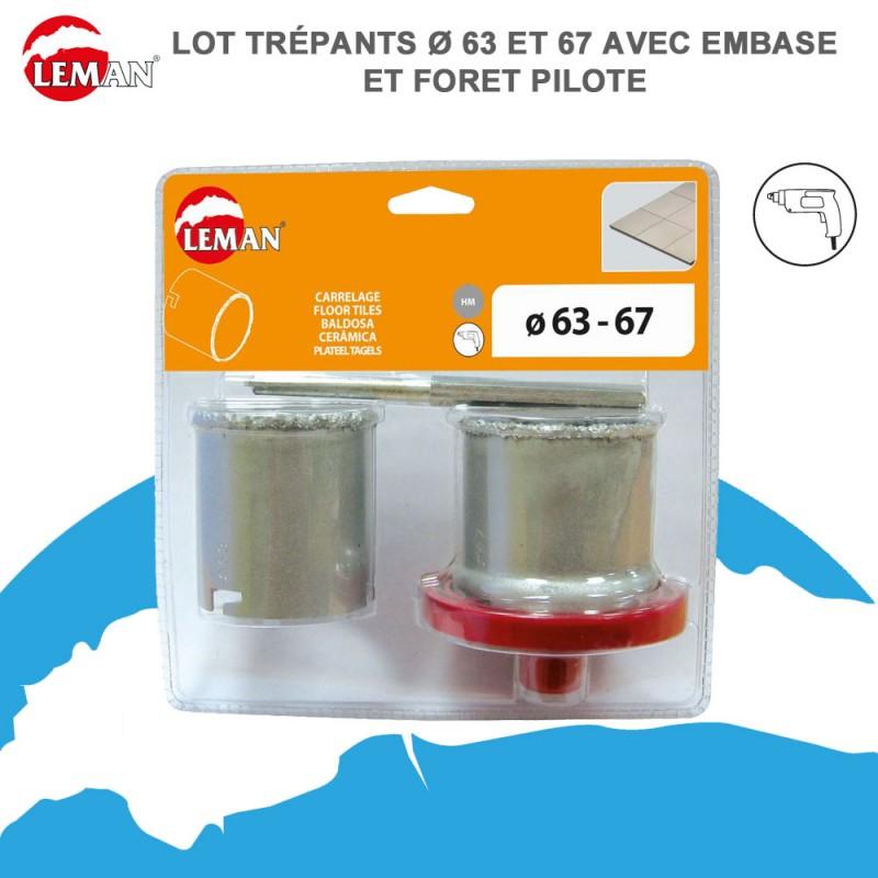 Cofret 2 Trepan Concretion Carbure Pour Carrelage 2 02006367 Leman