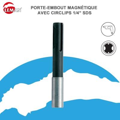 """Porte embout magnétique avec circlips 1/4"""" SDS"""