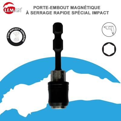 Porte embout magnétique serrage rapide spécial impact