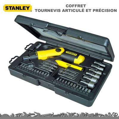 Tournevis articulé + précision avec accessoires - 38 pièces
