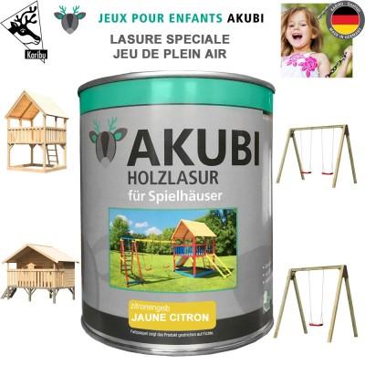 Peinture aire de jeux Akubi jaune citron 750 ml