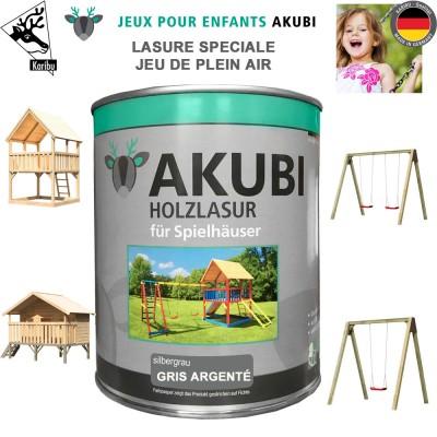 Peinture aire de jeux Akubi gris argenté 750 ml