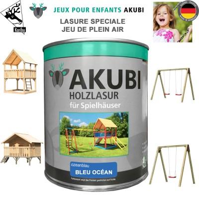 Peinture aire de jeux Akubi bleu océan 750 ml