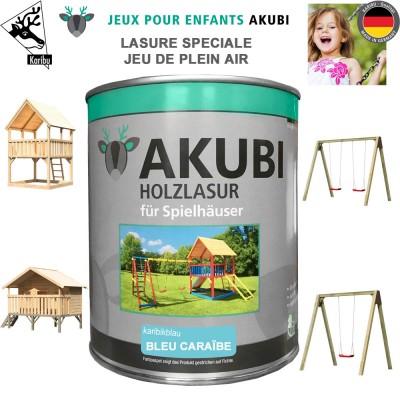 Peinture aire de jeux Akubi bleu caraibe 750 ml