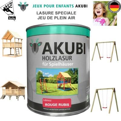 Peinture aire de jeux Akubi rouge rubis 750 ml