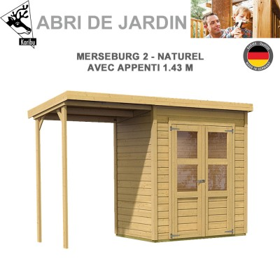 Abri de Jardin Merseburg 2 - 14mm + appenti