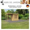 Abri de Jardin Merseburg 3 - 14mm + appenti